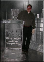 David with Ice Lounge Display