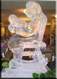 Snowflake Ice Carving